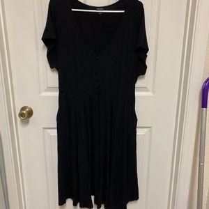 Torrid Black Jersey Skater Dress